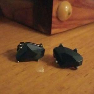 Avon navy blue earrings